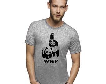 WWE wwf Panda tshirt funny shirts animal shirts wwf shirt wwe tshirts