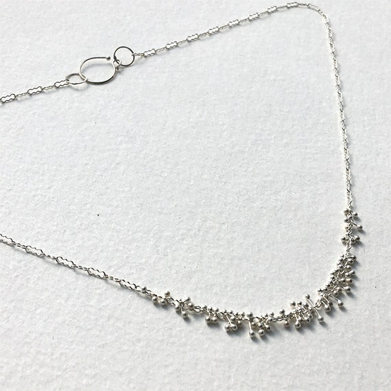 Kinetic Blip Necklace in Recycled Sterling Silver