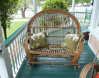 Hand made willow love seat