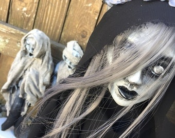 "Creepy Horror Art Doll ""La Llorona"" (and Child Ghosts)"