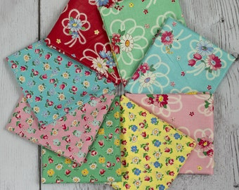 Atsuko Matsuyama 30's Collection Fat Quarter Pack -- Eight pieces