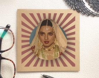 Bollywood Card - Indian Actress, Desi Card, Happy Birthday, Congratulations, Classic Card, Thank You Card, Hindi film, Bollywood Movie,