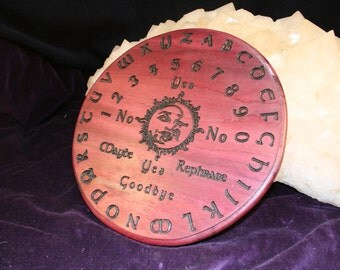 Sun & Moon - Engraved, Solid Wood Pendulum Board - Purpleheart