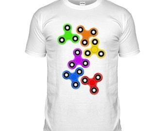 KIDS Fidget Spinner T-shirt Ball Bearing Spin Gadget Tshirt Trend Toy Popular Childrens T Shirt