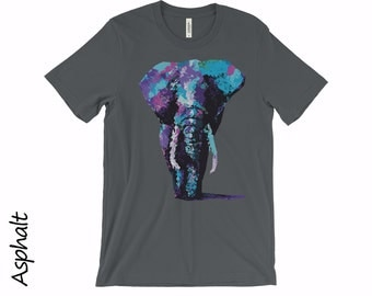 Elephant Tshirt Unisex Tops And Tees T-shirts Cotton T-shirt Unisex T-shirts Funny T-shirts Animal Tshirts Tshirt Mens Funny Tshirt