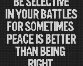 Be Selective Cross Stitch Pattern
