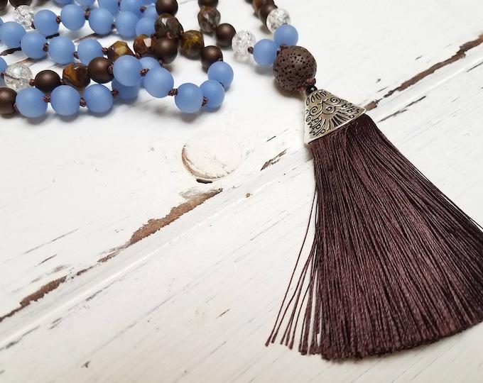 108 Mala Bead, Tassel Bead Necklace, Mala Necklace, Mala Bead, Bohemian Necklace, Yoga Necklace, Prayer Bead, Necklace
