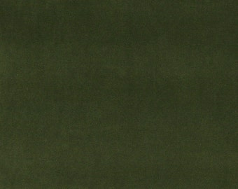Dark Green Authentic Cotton Velvet Upholstery Fabric By The Yard | Pattern # A0000G