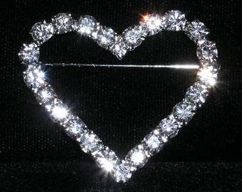 Style # 14186 - Single Row Heart Pin