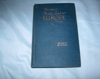 Vintage Book, Burrow's Handy Guide to Europe, For All English Speaking Tourists, 29 Maps & Plans