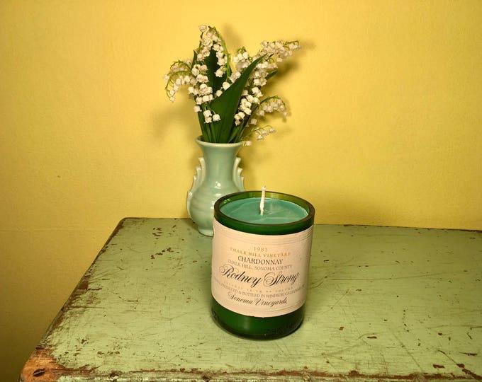 Chalk Hill Vineyard Chardonnay with a Sweet Basil Bergamot Soy candle