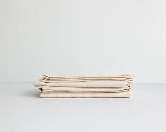 NATURAL TEA TOWEL / set of 4 / 100% cotton / handmade in Quebec, Canada / la petite boite co.