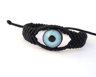Evil Eye Bracelet, Macrame Bracelet, Protection Eye Bracelet