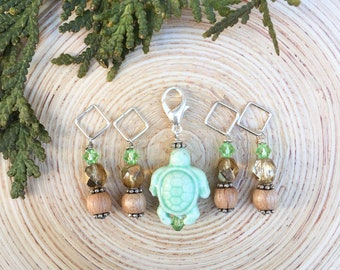 Sea Turtle Stitch markers | knitting stitch markers| Knitting Accessory | Knit Notions