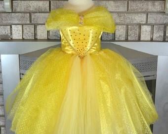 Yellow Princess Tutu Dress, Yellow Dress, Yellow Tutu, Yellow Girls  Birthday, Princess Tutu Dress, Princess Tutu
