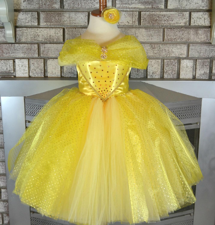 White apron belle - Princess Belle Tutu Dress Belle Dress Yellow Tutu Beauty And The Beast Belle Birthday Princess Tutu Dress Princess Belle Tutu
