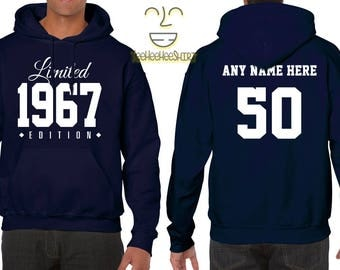 1967 Limited Edition B-day Hoodie 50th Birthday Gift Cool hipster swag mens womens ladies hooded sweatshirt sweater Unisex