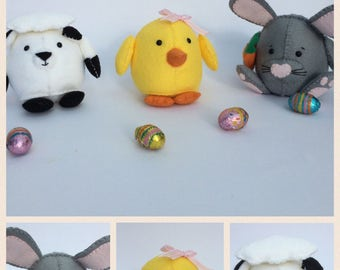 Easter decorations, easter bunny, easter chick, spring decorations