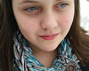 Kids Girls scarf SALE, Girls adjustable scarf, Kids Teal scarf, Girls scarf, kids accessories, Girls Infinity, girls scarf, girls infinity