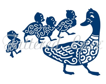 Tattered Lace Dies by Stephanie Weightman ~ Mother Duck And Ducklings, TTLD1364