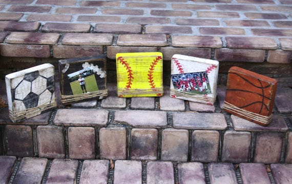 Block Picture Frame Sports Themed Picture Frames Handmade