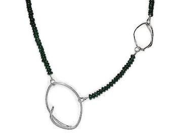 sterling silver and aventurine quartz necklace