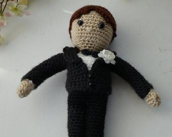 Groom Doll Amigurumi Crochet Pattern
