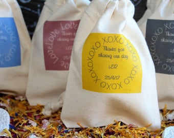 Wedding favour bags personalised
