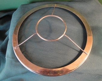 """10 1/4"""" Inch Nickel Plated Shade Ring For Aladdin Lamps"""