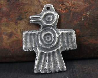 Aztec Bird Pendant, Handcrafted, Handmade,  Crafts Jewelry Making Supplies No. 353PD