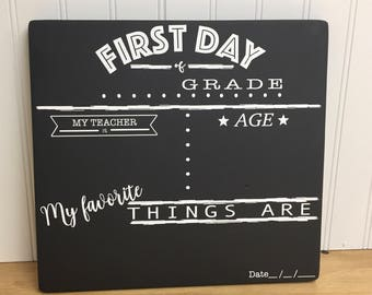 First Day of School Chalkboard - First Day of School Sign - Reusable Chalkboard - Back to School Picture - Back to School Sign -