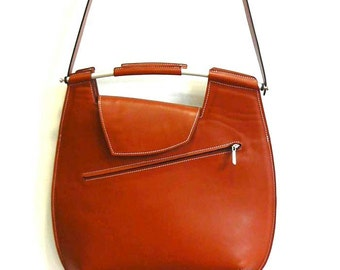 Tan leather Cross-body Messenger Bag