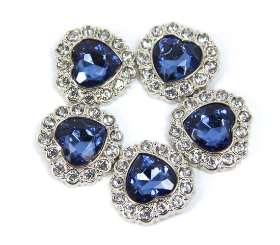 Buttons blue rhinestone buttons 10 acrylic rhinestone for Craft buttons for sale