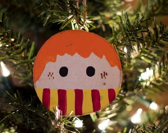 Ron Weasley wood slice Christmas ornament | hand painted ornament | Harry Potter ornament | Harry Potter Christmas ornament | handmade