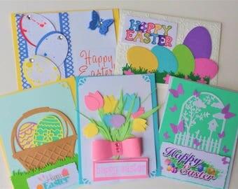 DIY Easter cards kit, Easter Cards Kids making Kit, Children Easter Kit, Easter cards kit (set of 10)