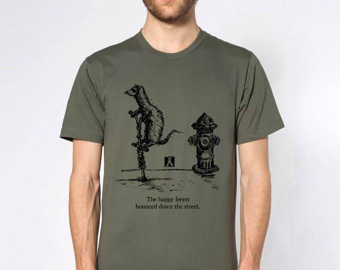 KillerBeeMoto: The Happy Ferret Bounced Down The Street Short or Long Sleeve T-Shirt
