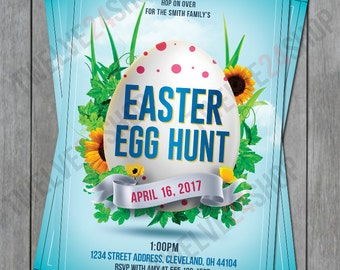 Easter Egg Hunt Invitation - Easter Party - Easter Egg Hunt Invite