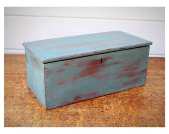 Vintage painted wooden Box