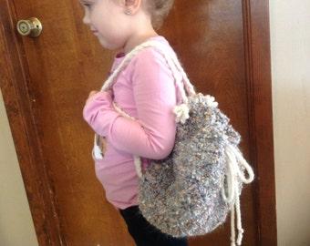 5% off Crochet little girls backpack purse