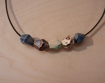 Modern Geometric Faceted Bead Necklace