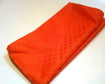 Vintage Scarf Ray Strauss Scarf Made in Italy Bright Orange Retro 1960's