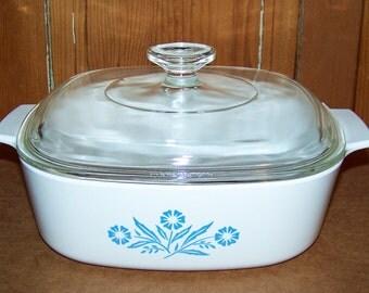 Vintage Corning Ware A-2-B Pyrex Lid 2 Qt Casserole Dish
