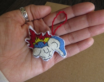 Cyndaquil Pokemon Charm for Keychains, Backpacks, Purses, Bags, and Vehicles