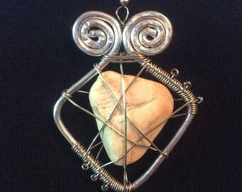 Wire Encased Fossil Pendant
