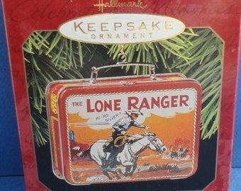 1997 The Lone Ranger Lunchbox Hallmark Retired Ornament