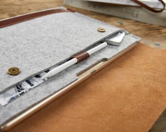 iPad Pro 12,9 case iPad Pro leather case iPad Felt case iPad leather sleeve iPad felt sleeve Tablet case iPad Smart keyboard Tablet leather