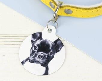 Photograph Pet ID Tag - Dog Name Identification - P39