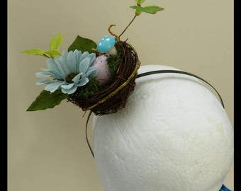 Woodland Bird Nest Hair Fascinator