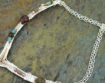 READY to SHIP Now! TRADITIONAL Asymmetrical Gemstone Collar, Arisan Collar, One of A Kind Collar, #107