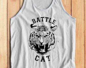 Battle Cat Tank Top // Cat Tank Top - Mens Graphic Tank Top // Tiger Shirt - Tiger Tank Top - Boho Clothing - Skater Clothing - Skater Shirt